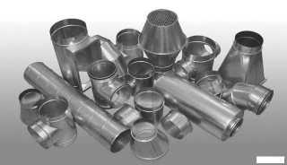 Фасонные изделия для соединения гибких воздуховодов